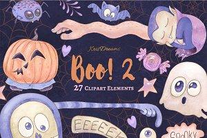 Boo 2 Clipart Set