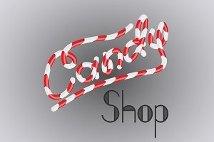 Lettering Candy Shop