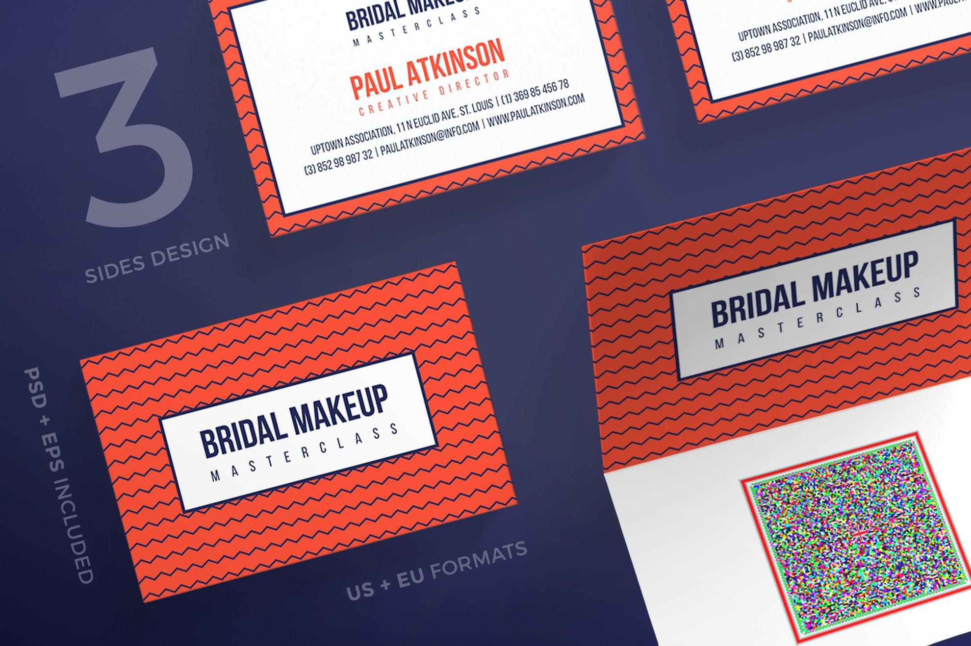 Business cards bridal makeup business card templates creative business cards bridal makeup business card templates creative market reheart Images