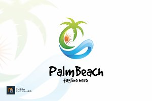 Palm Beach - Logo Template