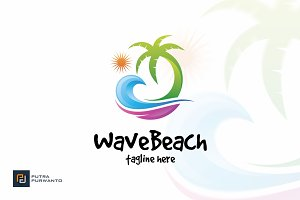 Wave Beach - Logo Template