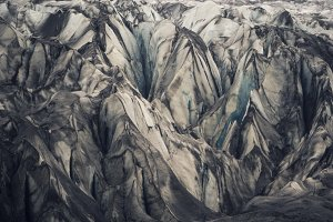 Close-up: the ice of Vatnajokull glacier