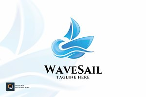 Wave Sail - Logo Template