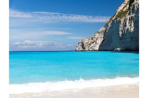 Blue Lagoon and white sand beach