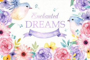 Enchanted Dreams Watercolor Clip Art