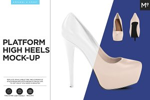 Platform High Heels Mock-up