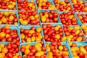 Red an yellow cherry tomatoes