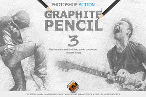 Graphite Pencil 3 Photoshop Actions