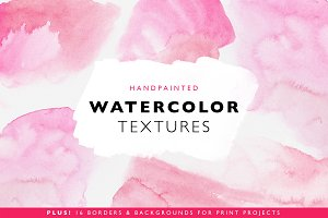 32 Watercolor Textures & Templates