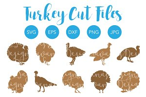 Silhouette Turkey SVG Bundle