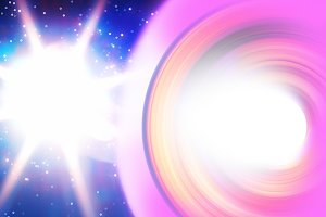 Space star light leak illustration background