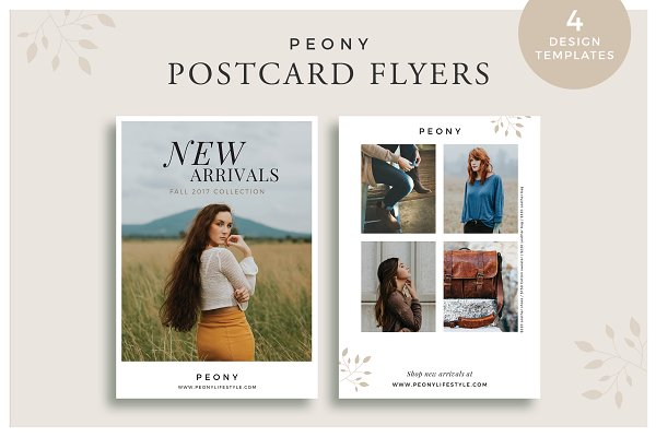 Peony Postcard Flyers