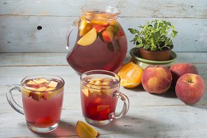 Sangria drink typical spanish