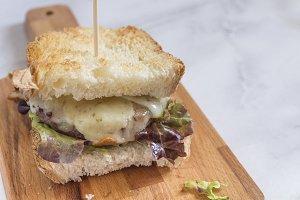 Burger in bread