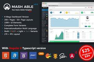 Mash Able Bootstrap + Angular4 Admin