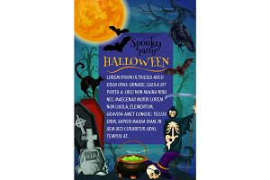 Halloween holiday horror party poster template
