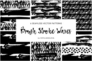 Hand Drawn Brush Strokes Pattern Set