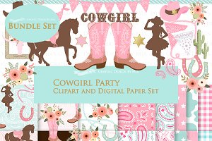 Cowgirl Pink Clipart+Pattern
