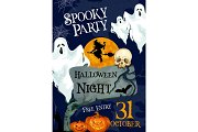 Halloween holiday horror party ghost poster