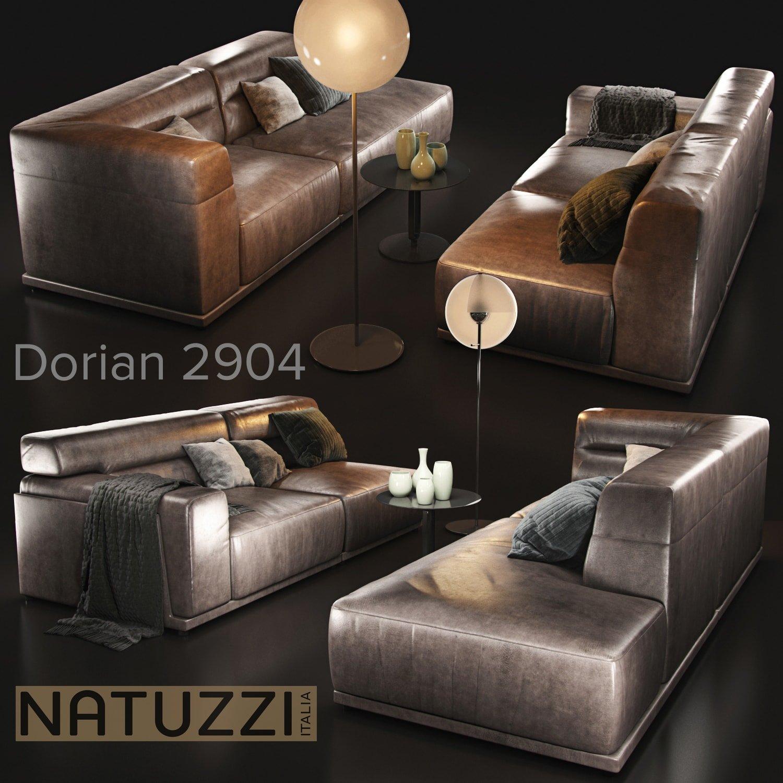 Sofa Natuzzi Dorian 2904 Furniture Models Creative Market
