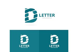 Unique vector letter D logo design template.