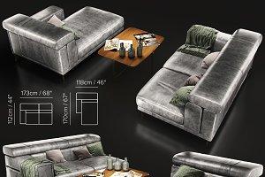 Sofa Natuzzi Etoile 2623