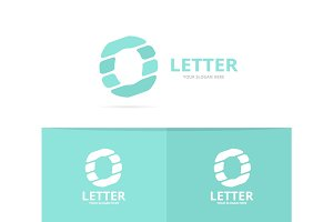 Unique vector letter O logo design template.