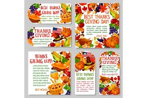 Thanksgiving Day holiday tag and label set design