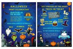 Halloween holiday celebration traditions poster