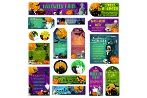 Halloween holiday trick treat greeting cards