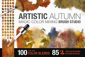 Artistic Autumn Paint Brush Studio