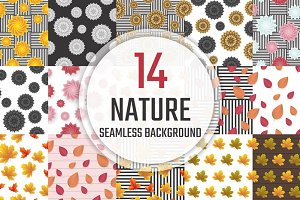 [94%OFF] 14 Nature Seamless Pattern