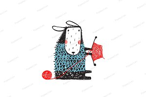 Funny Sheep Knitting Sweater