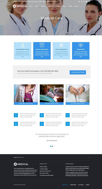 Medical Health Care WordPress Theme ~ WordPress Business Themes ...