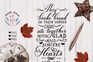 Thanksgiving Scripture Cut File