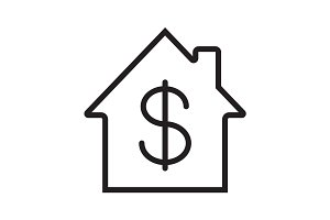 Property purchase linear icon