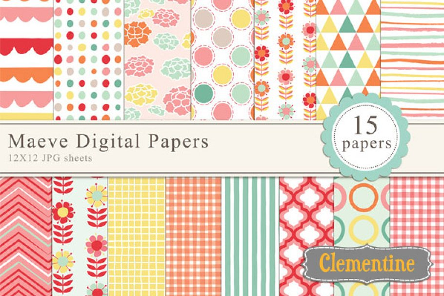 Maeve Digital Papers in Patterns - product preview 8