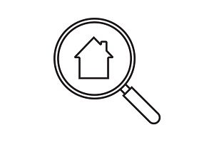 Real estate search linear icon