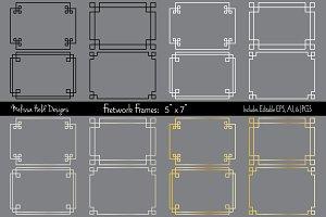 Silver & Gold 5 x 7 Fretwork Frames
