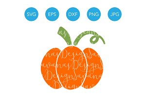 Cute Pumpkin SVG Vector for Cricut
