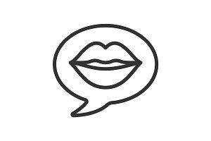 Erotic talk linear icon