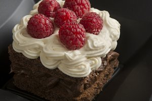 chocolate cake filled with cream and