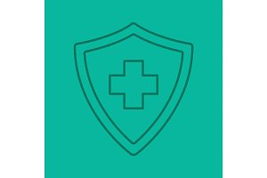 Medical insurance linear icon