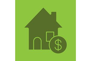 Real estate purchase glyph color icon