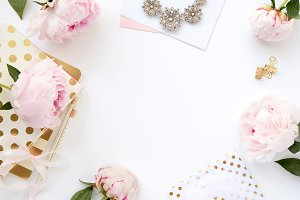 Styled photo - hero image, peonies