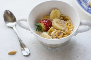 Breakfast in the sun, cereal bowl, s