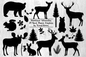 Woodland Silhouettes Illustration