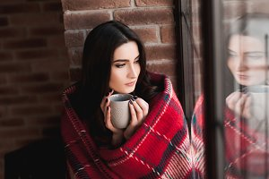 Girl drinking tea