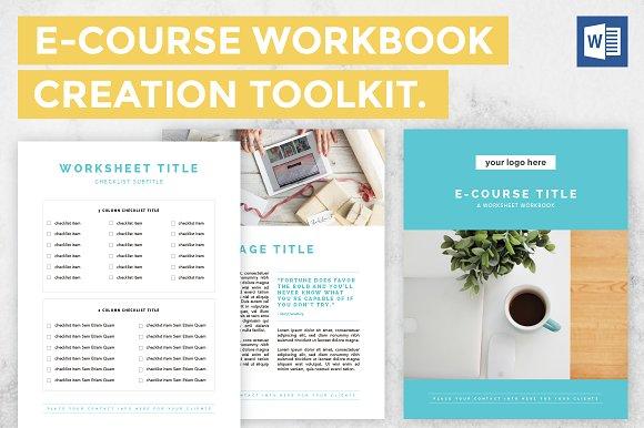 microsoft word e book ecourse bundle templates creative market
