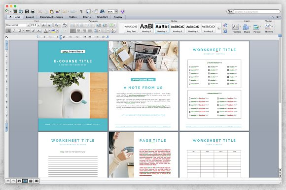 Microsoft Word E-book/Ecourse Bundle in Templates - product preview 3